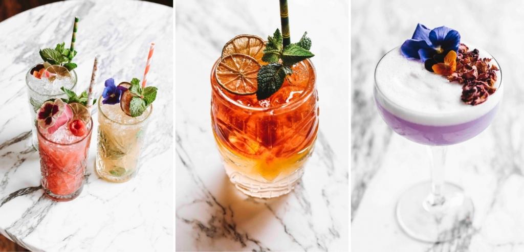 Verschillende cocktails van het menu van SHAKENSTYLE die gemaakt kunnen worden als je een cocktailbar huren wilt