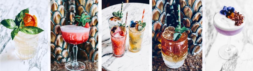 verschillende cocktail glazen voor verhuur